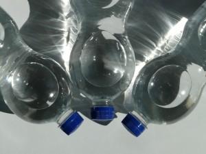 Set of three water bottles