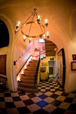 Staircase Inside Custom House Maritime Museum in Newburyport, MA