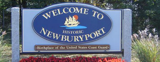 Welcome to Newburyport Sign